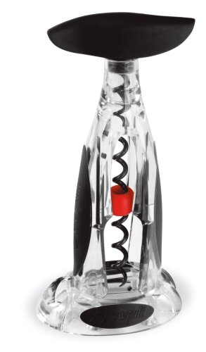 Screwpull by Le Creuset Activ-ball Table Model Corkscrew and Foilcutter Gift Set, Crystal