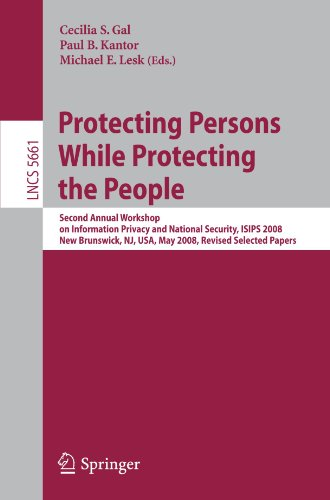 Protecting Persons While Protecting the People: Second Annual Workshop on Information Privacy and National Security, ISIPS 2008, New Brunswick, NJ, USA, May 12, 2008. Revised Selected Papers