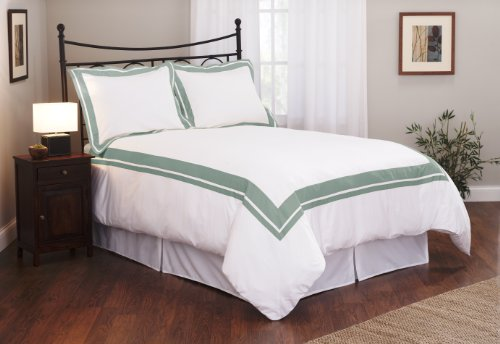 Roxbury Park Inlay King Duvet Cover Set, Teal front-1078345