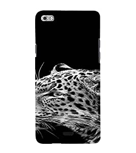 PrintVisa Animal Leopard Design 3D Hard Polycarbonate Designer Back Case Cover for Micromax Canvas Sliver 5 Q450