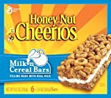 General Mills, Honey Nut Cheerios, Milk n Cereal Bars, 6-Count, 8.5oz Box (Pack of 4)