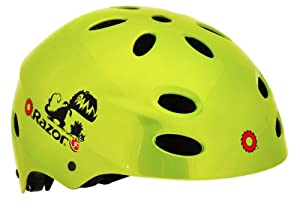 Razor Child Dino Helmet, Gloss Green