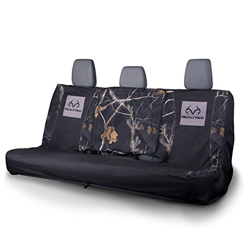 Realtree Black Camo Full-Size Bench Seat Cover (Realtree APC Camo, Durable Microfiber Fabric, Includes One Seat Cover, Sold Individually) (Bench Seat Covers For Girls compare prices)