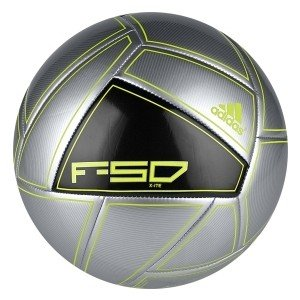 ADIDAS F50 X-ITE FOOTBALL SIZE 5 SOCCER BALL TRAINING SILVER BLACK LIME NEW