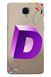 Clarks Letter D Hard Plastic Printed Back Cover/Case For OnePlus 3