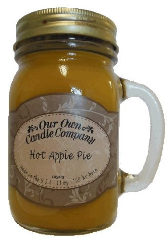 13 oz HOT APPLE PIE Scented Jar Candle (Our Own Candle Company Brand) Made in USA - 100 hr burn time (1)
