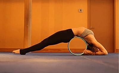 Zuwit Yoga-Übung-Rad für die Verbesserung der Wirbelsäule Flexibilität & Freigabe Spannung & Muskeldehnung und Öffnung der Brust, Schultern, Rücken, Hüften und Psoas. Fordern Sie in Hunderten von Yoga-Posen!