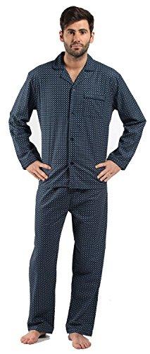Harvey James Mens 100% Cotton Flannel Diamond Spot Pyjama nightwear lounge wear sleepwear 9737