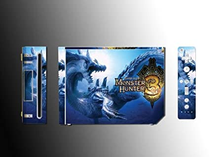 Monster Hunter Tri 3 Video Game Vinyl Decal Skin Protector Cover #2 for Nintendo Wii