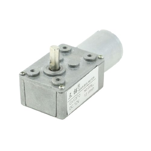 6Mm Shaft Gear Box 2 Terminals Electric Geared Motor Dc 12V 13Rpm