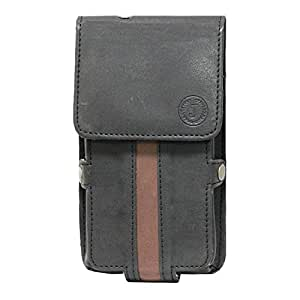 J Cover A6 Nillofer Series Leather Pouch Holster Case For QMobile Noir Z9 Plus Black Brown