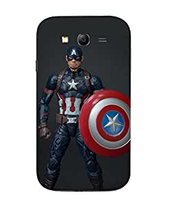 Snazzy Captain America Printed Multicolor Hard Back Cover For Samsung Galaxy J1