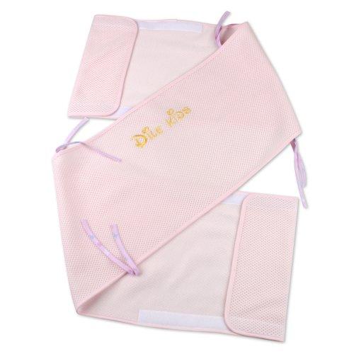 Dele The Sandwich 3D Baby Crib Cotton Cloth Fences (2 Piece) (Xl, Pink) front-27911