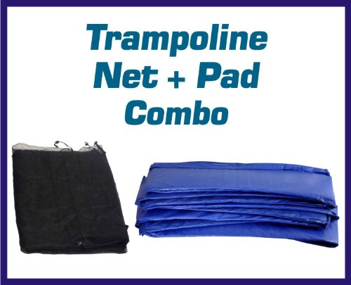 Super Trampoline Safety Net Amp Blue Pad Combo This Set