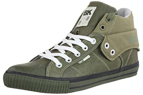British Knights ROCO BK Herren Sneaker grün canvas olive, Schuhgröße:EUR 45