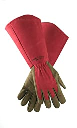 West County 054RXS Gauntlet Rose Glove, Ruby, Extra Small