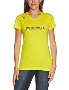 PUMA Damen BVB T Shirt Fan Tee, Blazing Yellow/Black, XS, 743578 02