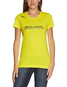 PUMA Damen BVB T Shirt Fan Tee, Blazing Yellow/Black, S, 743578 02