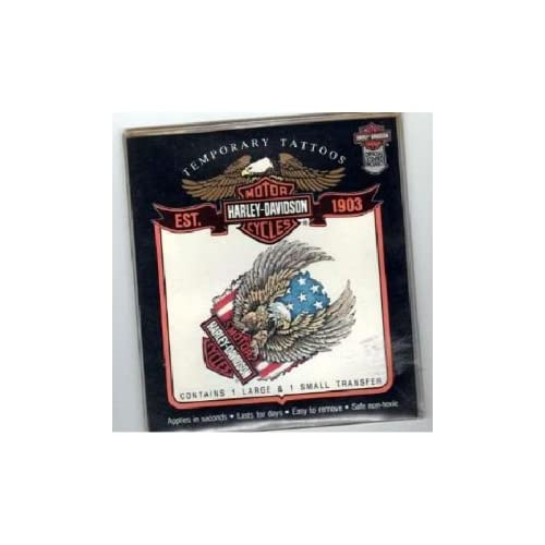 Harley Davidson Eagle Removable Tattoos