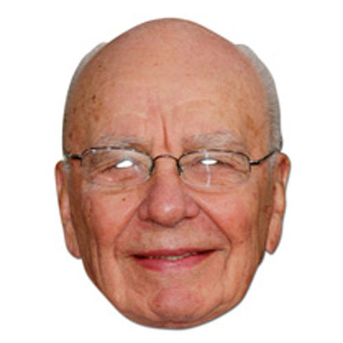 Rupert Murdoch Celebrity Face Card Mask, Mask-arade, Impersonation/Fancy Dress - 1