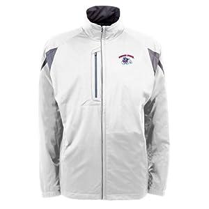 Fresno State Bulldogs NCAA Highland Mens Full Zip Sports Jacket (White) by Antigua