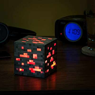 Minecraft Light-up Redstone Ore Cube Night Light Display by ThinkGeek