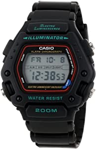 Casio Men's DW290-1V Classic Alarm Chronograph Shock Resistant Sport Watch