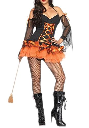 Alralel Women Pirate Witch Mask Party Halloween Cosplay Costume Clubwear Dress