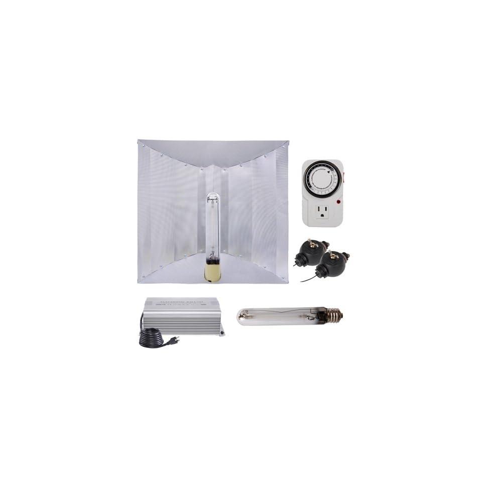 600 Watt HPS Grow Light Electronic Ballast Reflector Hood Kit
