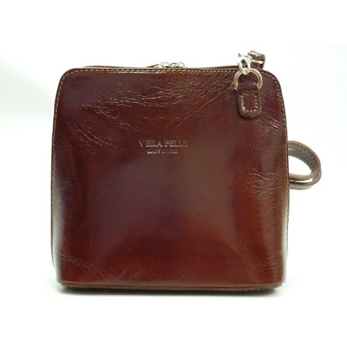 Tan Leather Crossover Shoulder Handbag
