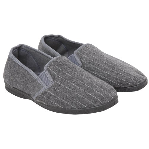 Cheap Mens Pin Stripe Indoor Footwear/Slippers (B009BFQNT2)