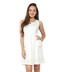 Tong White Dress Dobby for Women