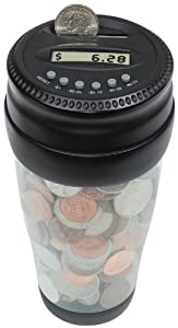 Totes Mens Auto Coin Jar, Clear, One Size