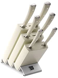 Wusthof 9877 classic ikon 7 piece knife block set creme for Wusthof kitchen essentials set 7 piece