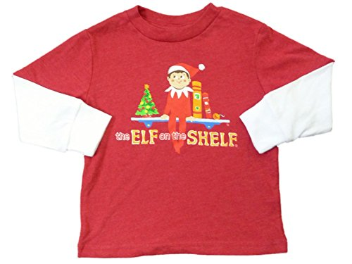 The Elf On The Shelf Infant & Toddler Boys Red Long Sleeve Christmas T-Shirt