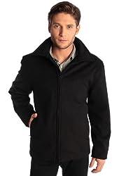 Alpine Swiss Men's Open Bottom Wool Blend Zipper Jacket