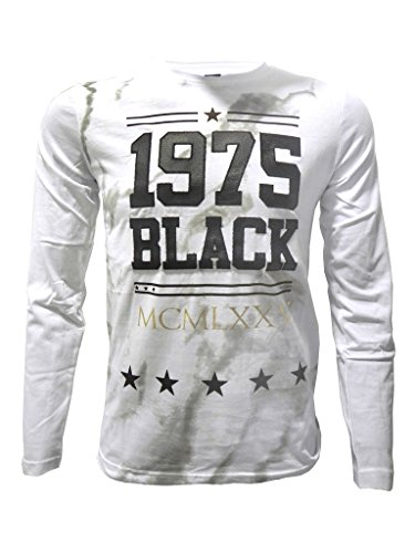 T-shirt RIVALDI per bambini, effetto marmo, colore: bianco bianco 10 Anni