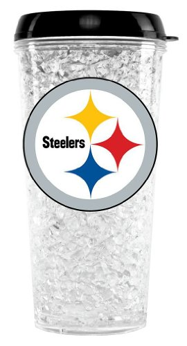 Nfl Pittsburgh Steelers Duck House Crystal Tumbler With Straw front-964462