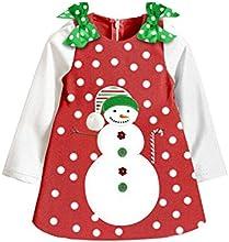 Lovely Baby Girl39s Snow Dot Bowknot Dress Kid Snowman Christmas Party Skirt