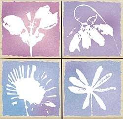 Pastel Petals Wood Mounted Rubber Stamp Set (LL841)