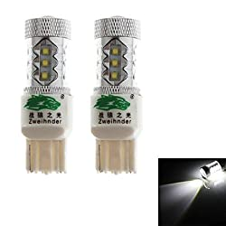 See Zweihnder 7440 80W 6800LM 6000-6500K 16xCree XB-D LED White Light Bulb for Car Fog Lamp (12-24V,2 Pieces) Details