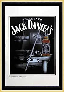 Jack Daniels - Bar Mirror (Snooker) (Size: 9'' x 12'')
