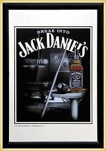 Jack Daniels - Bar Mirror (Snooker) (Size: 9'' x 12'')