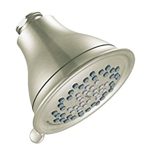 Moen 3233BN Envi Three-Function Eco-Performance Showerhead, Brushed Nickel