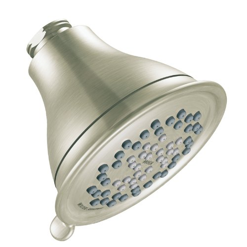 Moen 3233BN Envi Three-Function Eco-Performance Shower Head, Brushed Nickel