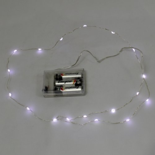 Set Of 3 Cool White 18 Led Submersible Flexible String Lights