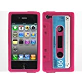 "Iprotect ORIGINAL RETRO STYLE HIGHCLASS KASSETTEN / KASSETTE SILIKON CASE LILA / PURPLE F�R DAS IPHONE 4von ""iprotect"""