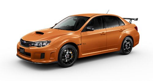 Subaru Impreza WRX STI tS Type RA (2013) Car Art Poster Print on 10 mil Archival Satin Paper Orange Front Side Studio View 16