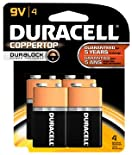 Duracell Coppertop Batteries, Alkaline, 9V, 4 ct.