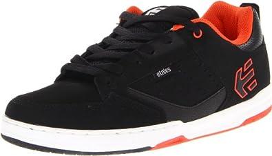 etnies Men's Cartel Skate Shoe,Black/Red/White,8 D US